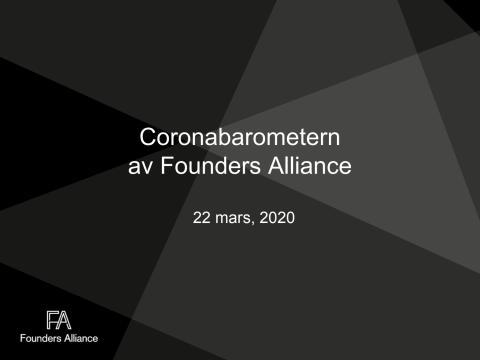 Coronabarometern av Founders Alliance 22 mars
