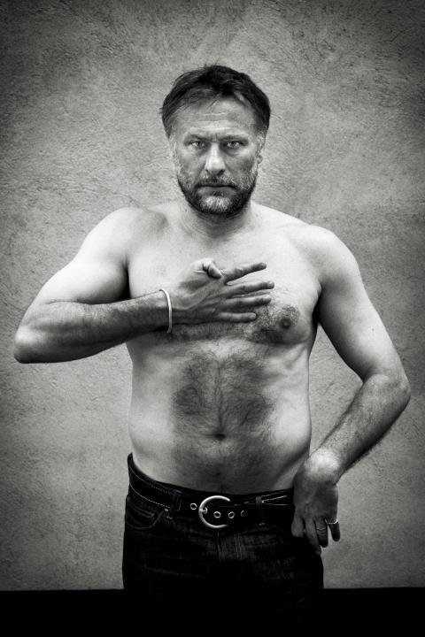 Michael Nyqvist - porträtterad i utställningen Eldsjälar