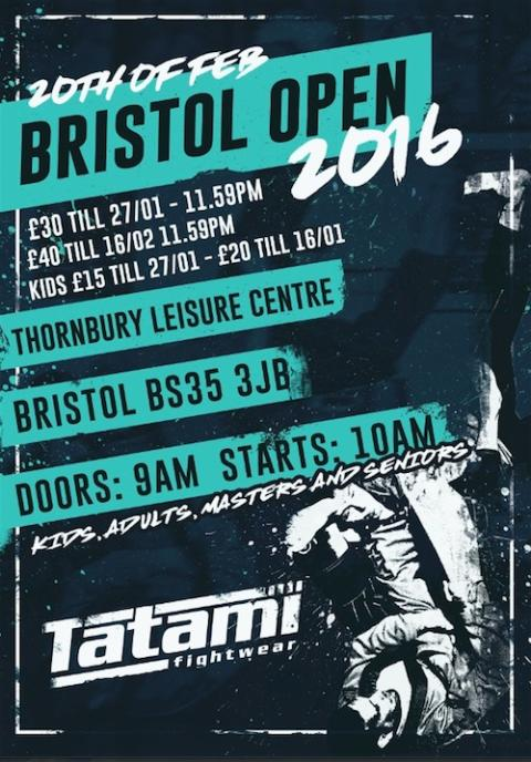 Bristol Open on 20th February  run by Premier BJJ Championships