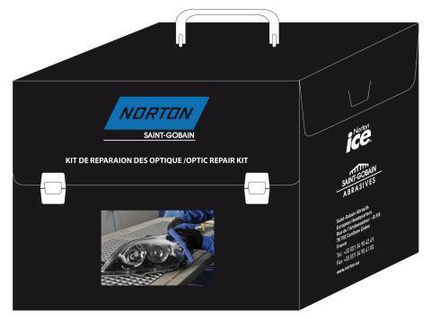 Norton slip- och polerprodukter för strålkastarrenovering - Sats för strålkastarrenovering