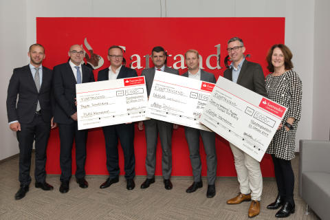 Spendenübergabe Santander Select in Frankfurt
