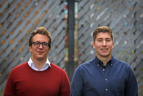 Forskarstudenterna Antti Siika och Robert Mattila. Foto: Peter Ardell.