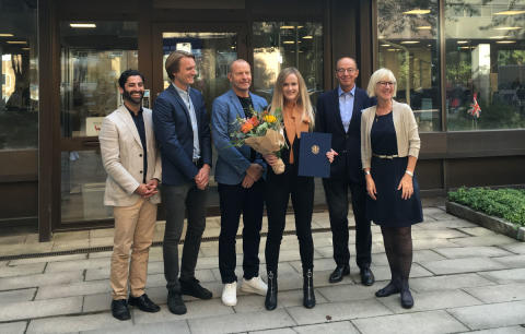 Lovisa Case from Orexo AB receives this year's MBA scholarship