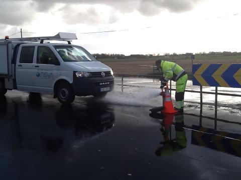 Ispiggning och renspolning av vattenledningsnätet i södra Billesholm
