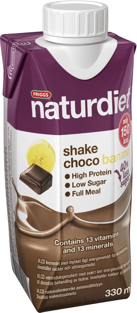 Naturdiet Choco Banana shake - nu med mindre socker