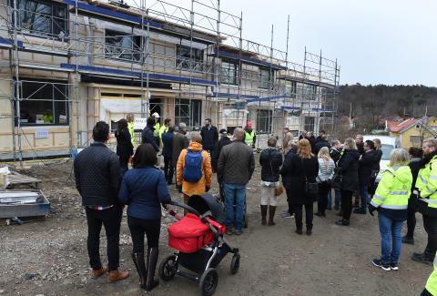 Nya hus på Torpagatan Örgryte Egnahem - Kundevent under byggnation