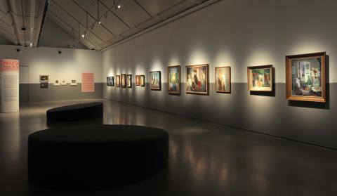 Installationsbild Övre Etage, Tove Jansson - Lusten att skapa och leva, Göteborgs konstmuseum