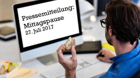 Tastatur, Henkelmann oder Restaurant?  Fast ein Viertel der deutschen Arbeitnehmer isst mittags zwischen Tastatur und Telefon.