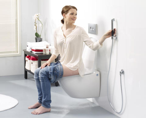 Handdusch till tvättställ