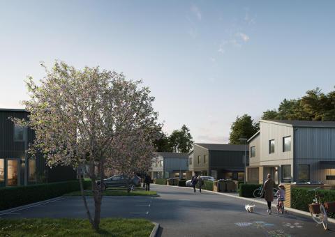 Nybyggnation säljer i Hills Villastad