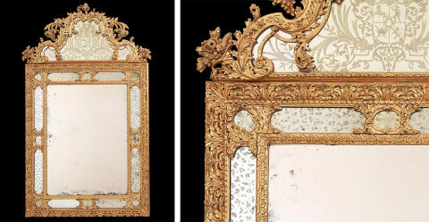 New acquisition: Mirror ordered by Count Fabian Wrede in the 1690s