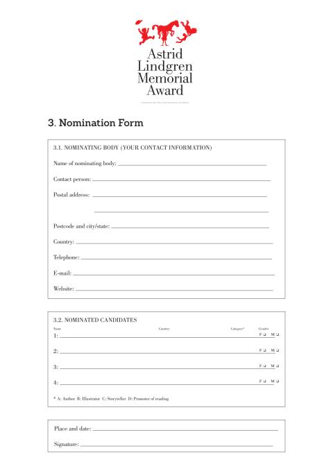 Nomination form 2019