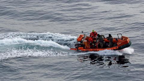 'Esvagt Kappa' på øvelse med Frømandskorpset