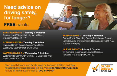 Older drivers invited to attend free road safety event