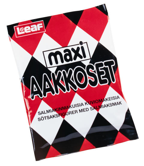 Aakkoset Maxi Salmiakki 1989