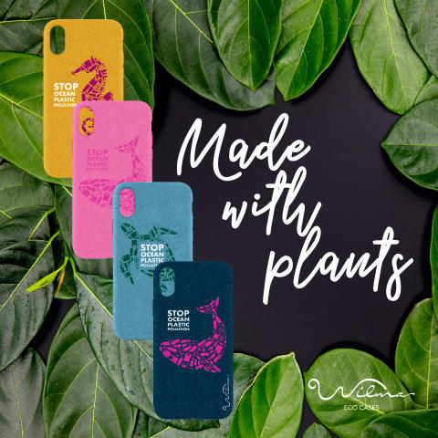 Swedish brand Wilma launches a new collection of mobile phone cases made from a bio-degradable material at the FORMEX exhibition from 20th-23rd August