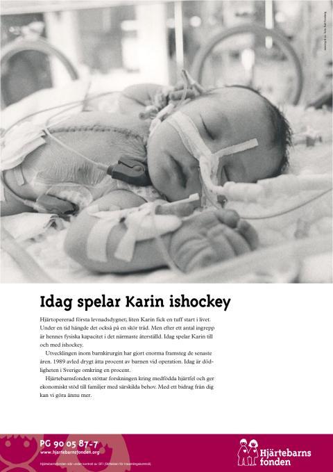 Annons ur tidigare kampanj för Hjärtebarnsfonden