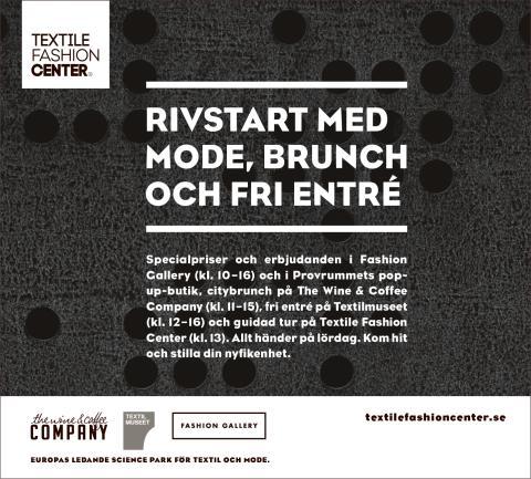 Rivstart inför hösten på Textile Fashion Center 26 augusti