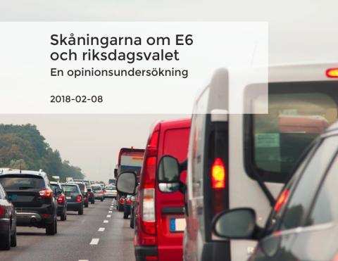 Skåningarna om E6 och riksdagsvalet - ny opinionsundersökning från Handelskammaren