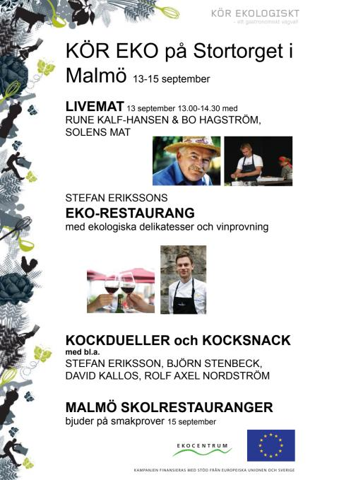 Live-mat, ekorestaurang och kockdueller i Malmö 13-15/9