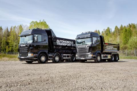 Scania demonstrerer selvkørende lastbiler