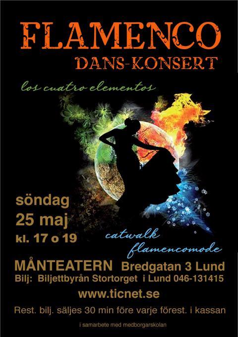 "Flamenco-konsert ""Los cuatro elementos"" i Lund"