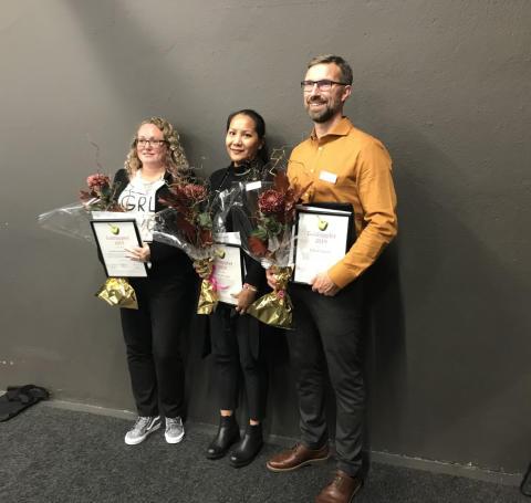 Pristagarna till Guldäpplet 2019:  Lärare som utvecklar och förnyar undervisningen med nytänkande och digitala arbetsformer