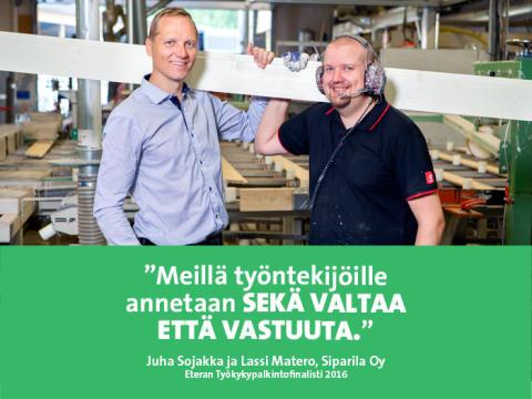 Eteran Työkykypalkintofinalisti 2016 Siparila