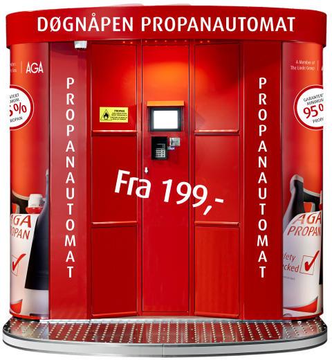 Propanautomat fra AGA