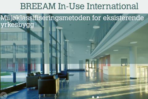 BREEAM In-Use International Online i norsk versjon