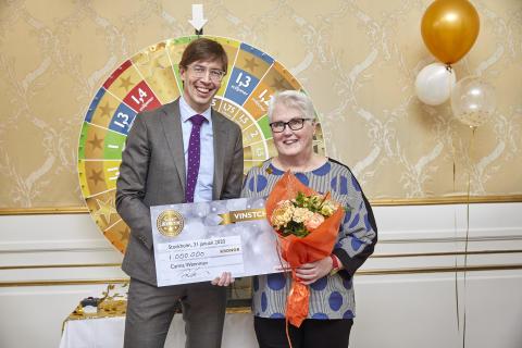 Carina från Bjurholm vann en miljon i Kombilotteriet