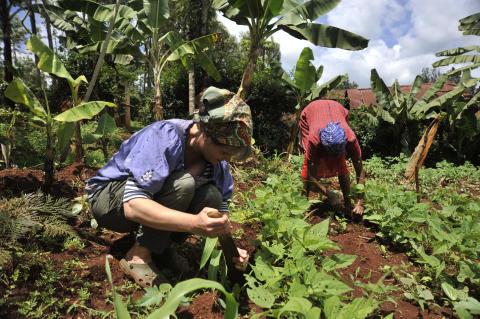 Åsa arbetar i jordbruket