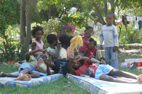 Barn i SOS-Barnbyn Santo, Haiti