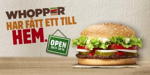 BURGER KING® öppnar restaurang i Torslanda
