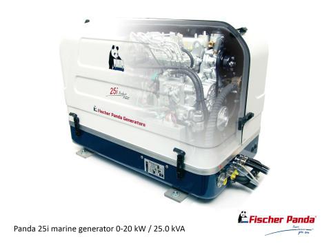 Hi-res image - Fischer Panda UK - Fischer Panda's Panda 25i variable speed generator