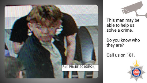Can you help us identify this man from CCTV image after assault in Camberley?