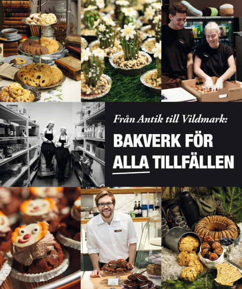 """Mässrestauranger: """"Från Antik till Vildmark: Bakverk för alla tillfällen"""" receptbok"""