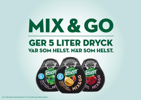 Mix & Go – ett innovativt sätt att smaksätta ditt vatten. Var som helst. När som helst.