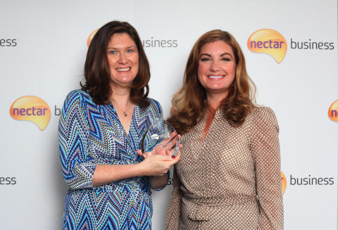 Nectar Business Entrepreneur of the Year, Ann-Maree, with Nectar Business Small Business Awards judge, Karren Brady