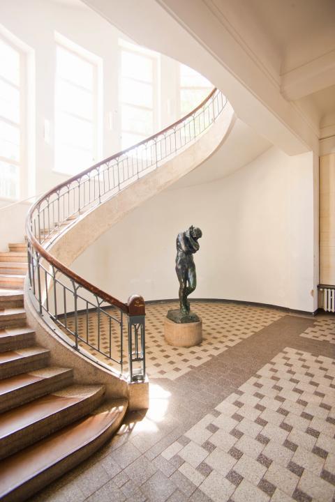 Bauhaus i Weimar – Henry van de Veldes trappehus i Bauhaus Universitetet
