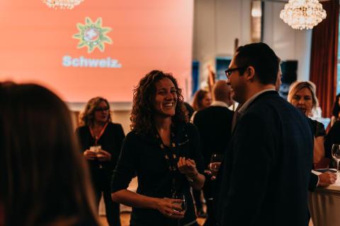 Networking beim Auftakt der Grüezi Deutschland Tour 2019 in Stuttgart
