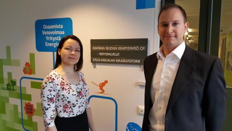 Sven Langbein ja Miia Ruohio ovat Kehyn uudet yritysasiantuntijat