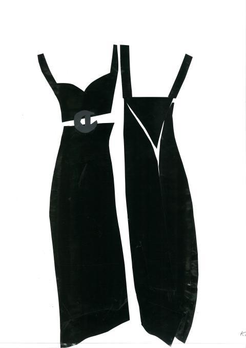 Stilsäkert, svarta aftonklänningar, 1930-tal