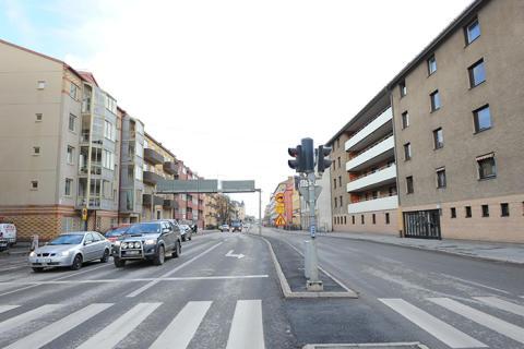 Ny sträcka för VA-arbetet på Trädgårdsgatan i Örebro