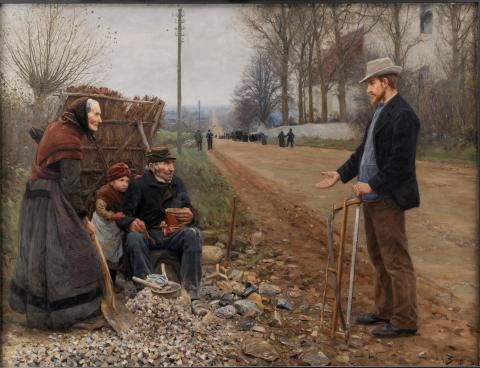 H.A. Brendekilde. En Landevej, 1893. Olie på lærred, 200 x 263 cm. Statens Museum for Kunst. Foto SMK Foto (2)