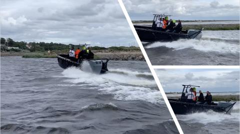 First sea trials of the OXE Diesel 300 P1A prototype