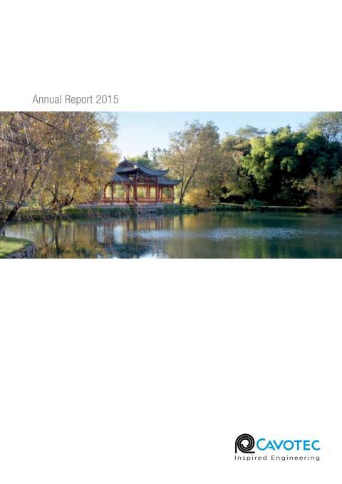 Cavotec Annual Report 2015