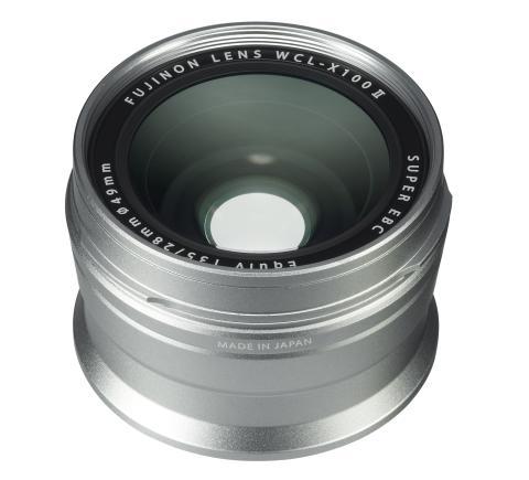 X100F Wide Conversion Lens II Silver