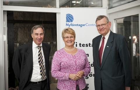 Näringsministern hyllade NyföretagarCentrums insatser för nyföretagandet i Sverige