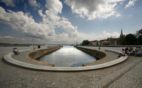 Havnefronten ved Kulturværftet